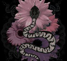 Floral Serpent by PrettyMorbid