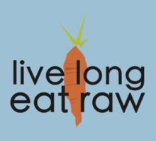 live long eat raw (black font, large logo) by johnnabrynn