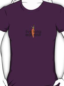 live long eat raw (black font, large logo) T-Shirt