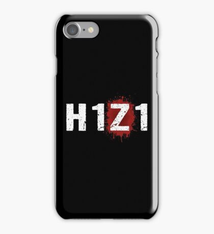H1Z1: Bloody Z Title - White Ink iPhone Case/Skin