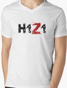 H1Z1: Title - Black Ink Mens V-Neck T-Shirt
