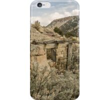 Dilapidated Stone Building Blending Into the Hill iPhone Case/Skin