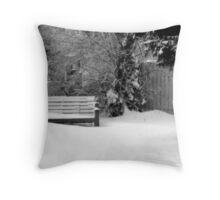 City Winter Scene Throw Pillow