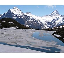 Bachalpensee with Fieschornen in the background, May 2004 Photographic Print