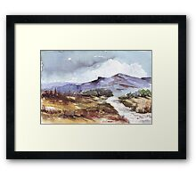 En route to Magalies Framed Print