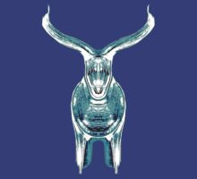 Bull, turquoise by Penny Ward Marcus