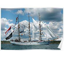 INDONESIAN TALL SHIP, DEWARUCI, NEWPORT, RHODE ISLAND Poster