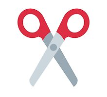 Black Scissors Twitter Emoji by emoji