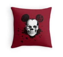 rest in peace, mickey Throw Pillow
