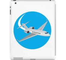 Commercial Light Passenger Airplane Circle Retro iPad Case/Skin