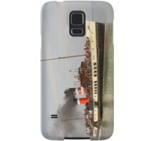 PS Waverley approaching Yarmouth Pier Samsung Galaxy Case/Skin