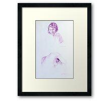 Girl x 2 Framed Print