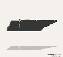 Tennessee Map by FinlayMcNevin