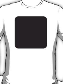 Black Large Square Twitter Emoji T-Shirt