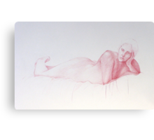 Woman resting 1 Canvas Print
