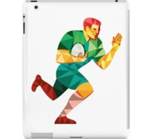 Rugby Player Fend Off Low Polygon iPad Case/Skin