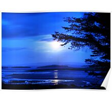 Sea of Tranquility - Moonlight in Mulranny Poster