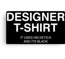 Designer Shirt Canvas Print