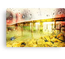 Laughter in the rain Canvas Print