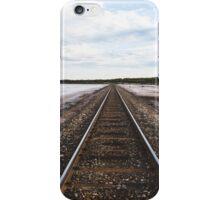 Train tracks beside the salt lake iPhone Case/Skin