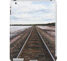 Train tracks beside the salt lake iPad Case/Skin