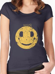 Music Smile V2 Women's Fitted Scoop T-Shirt