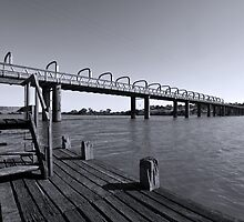 Jetty View - Motor Bridge, Murray Bridge, South Australia by Mark Richards