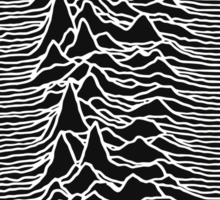 Joy Division Unknown Pleasure Album Cover Sticker