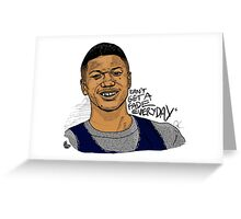 Jalen Rose - Can't Get A Fade Everyday  Greeting Card