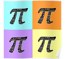 Pi Day Graphic Pastel Squares Poster