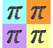 Pi Day Graphic Pastel Squares Photographic Print