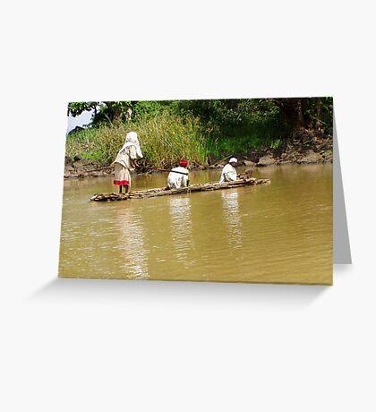 Rafting on Lake Tana in Ethiopia Greeting Card