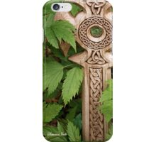 A Celtic Cross for St Patrick's Day iPhone Case/Skin