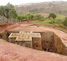 Bet Giorgis (Church of St. George) in Ethiopia by Laurel Talabere