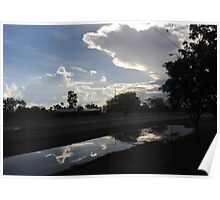 Wet season reflections by the Stuart Hwy Poster