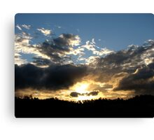 Sunset in June Canvas Print