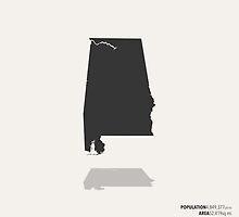 Alabama Map by FinlayMcNevin