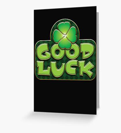 Irish Good Luck Design Saint Patricks Day Greeting Card