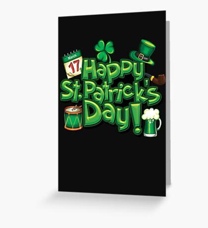 Happy Saint Patricks Day Design 1 Greeting Card