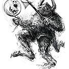 Comicalrabbitearedballooncarryingboxershortsmonster by Tom Godfrey