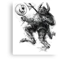 Comicalrabbitearedballooncarryingboxershortsmonster Canvas Print