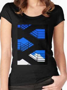stairs Women's Fitted Scoop T-Shirt