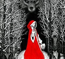 Red Riding Hood and the Big Bad Wolf by Alicja Jaczewska