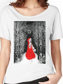 Red Riding Hood and the Big Bad Wolf Women's Relaxed Fit T-Shirt