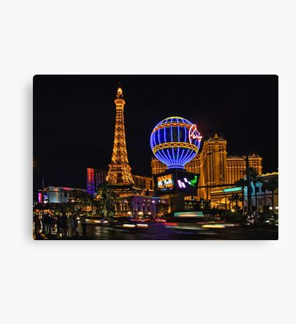 Eiffel Tower in LV Canvas Print