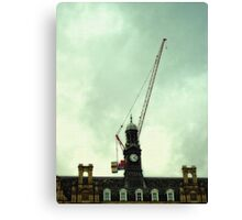 the crane building Canvas Print