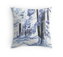 Winter Wonderland - Watercolor Throw Pillow