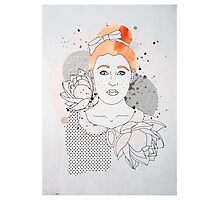 Red Headed Portrait Photographic Print