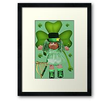 CABBAGE PATCH DOLL GOES IRISH Framed Print