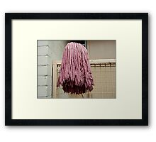 Mop head by Ricky Framed Print